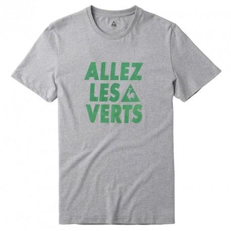 Tee-shirt ASSE Le Coq Sportif Allez les verts - Gris