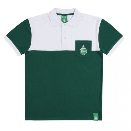 Polo blanc / vert ASSE