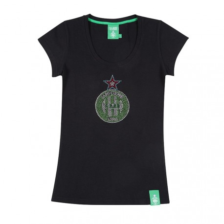 Tee-shirt femme Glam ASSE noir