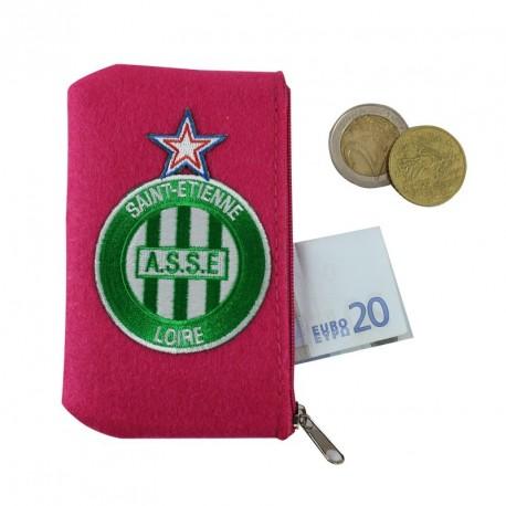 Porte monnaie ASSE feutrine rose