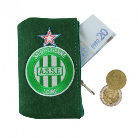 Porte monnaie ASSE feutrine vert