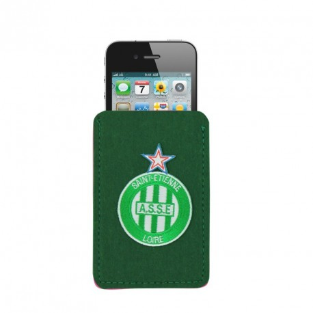 Housse smartphone ASSE feutrine vert